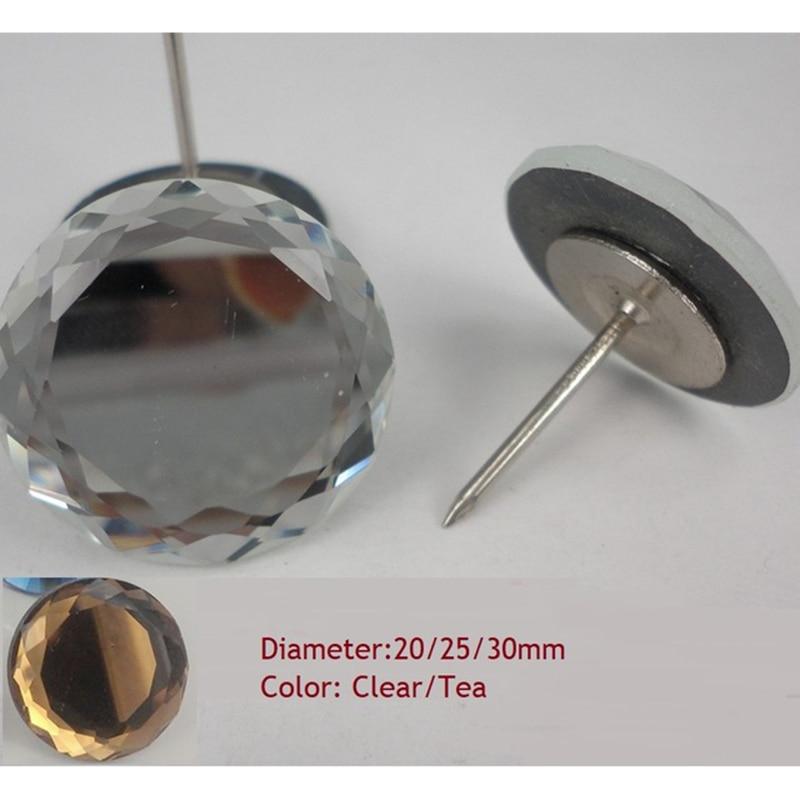 Liberaal 50 Stuks Platte Crystal Bekleding Sofa Hoofdeinde Knoppen Pin Tack Diamond Studs Muur Decor Meerdere Opties Bekwame Productie