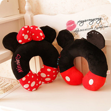 Disney Mickey Minnie Mouse Couple Cartoon U-shaped Health Neck Pillow Student Adult Office Napping Cushion Gifts Sleeping