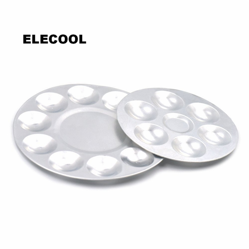 ELECOOL Aluminium 6/10 Cells Cosmetic Makeup Palette Foundation BB Cream Nail Polish Mixing Tray Artist Watercolor Palette