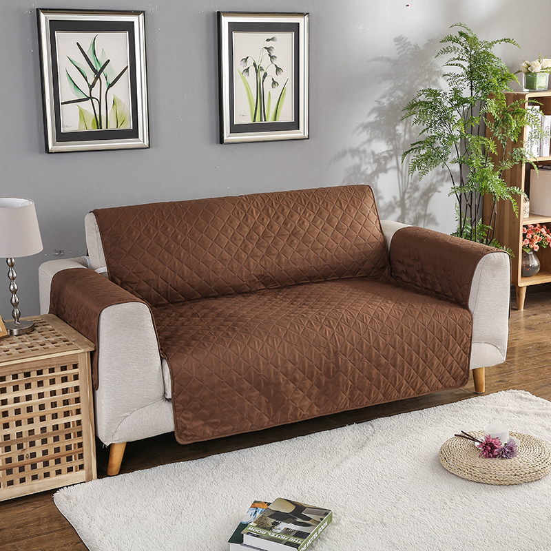 Universal size sofa couch covers for living room one piece - What size couch for my living room ...