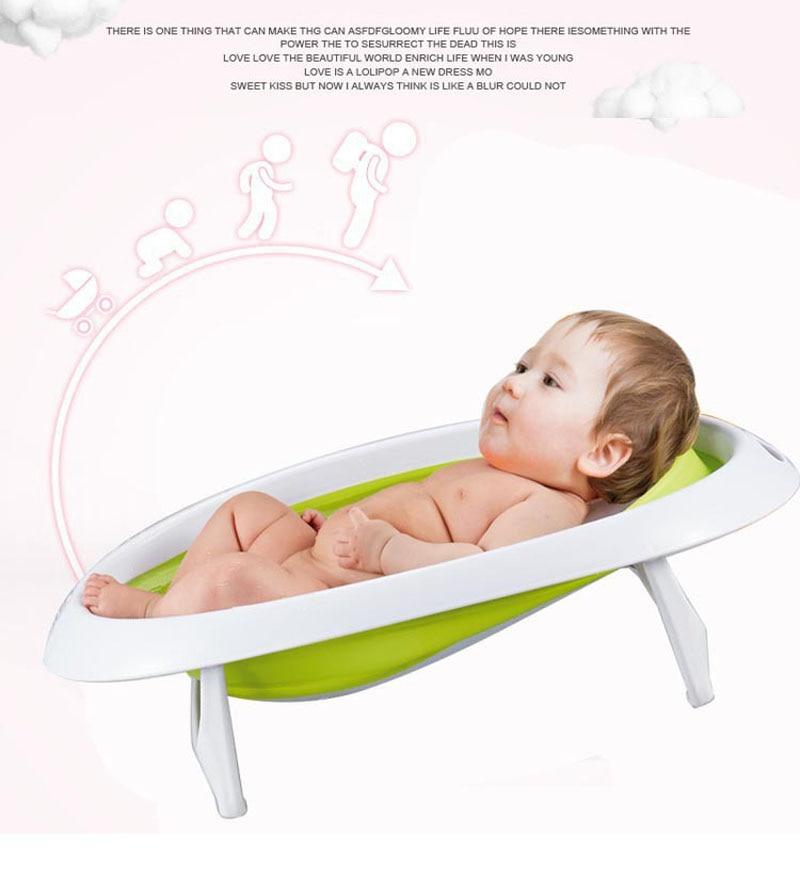 2 dans 1 Pliable Nouveau-Né Bébé Baignoire Bébé Assis Couché Douche Baignoire Seau Bain Soutien Sécurité Siège 0 ~ 18 m