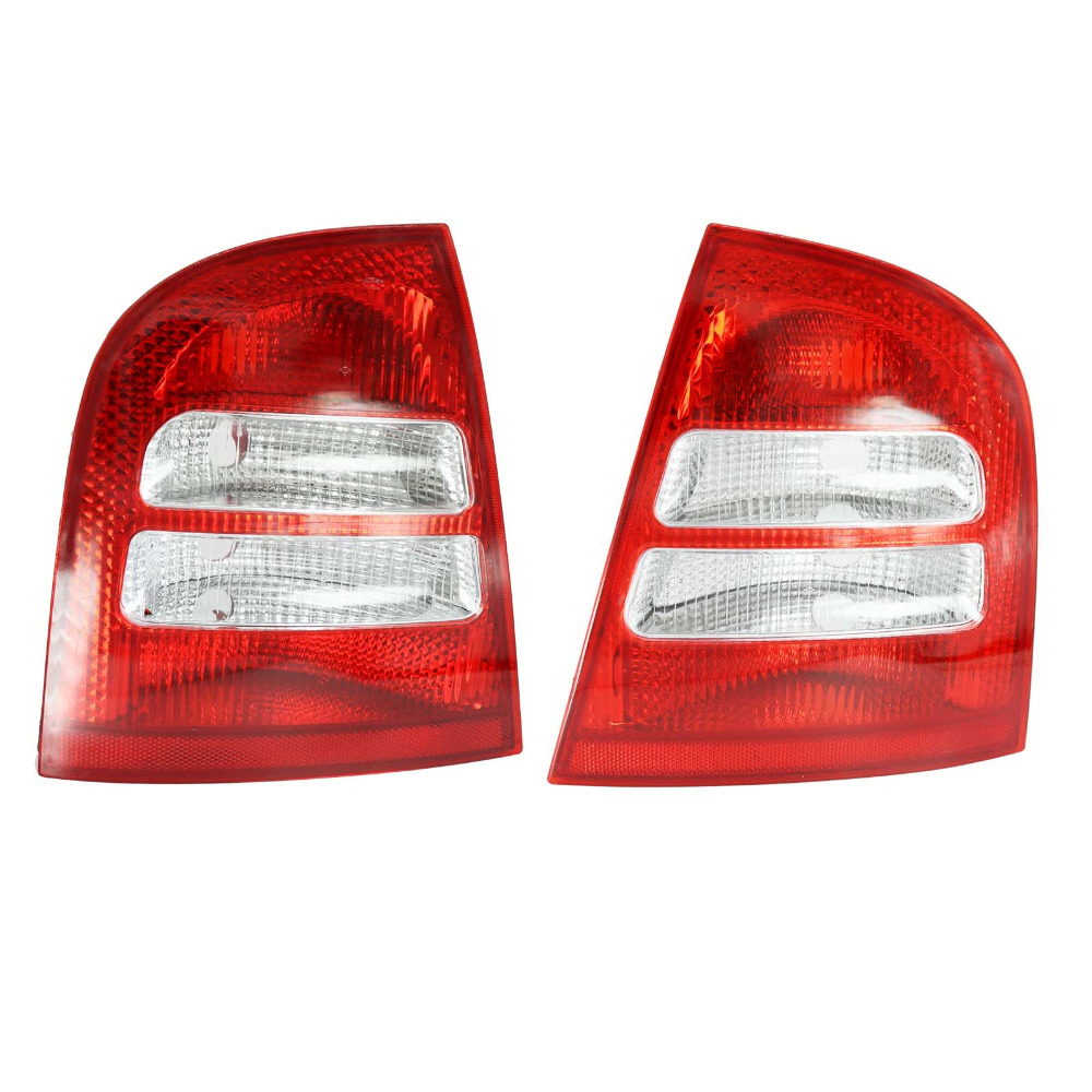 For Skoda Octavia A4 MK1 Sedan 2000 2001 2002 2003 2004 2005 2006 2007 2008 2009 2010 2011 Rear Tail Light Lamp jeazea glove box light storage compartment lamp 1j0947301 1j0 947 301 for vw jetta golf bora octavia 2000 2001 2002 2003 2004