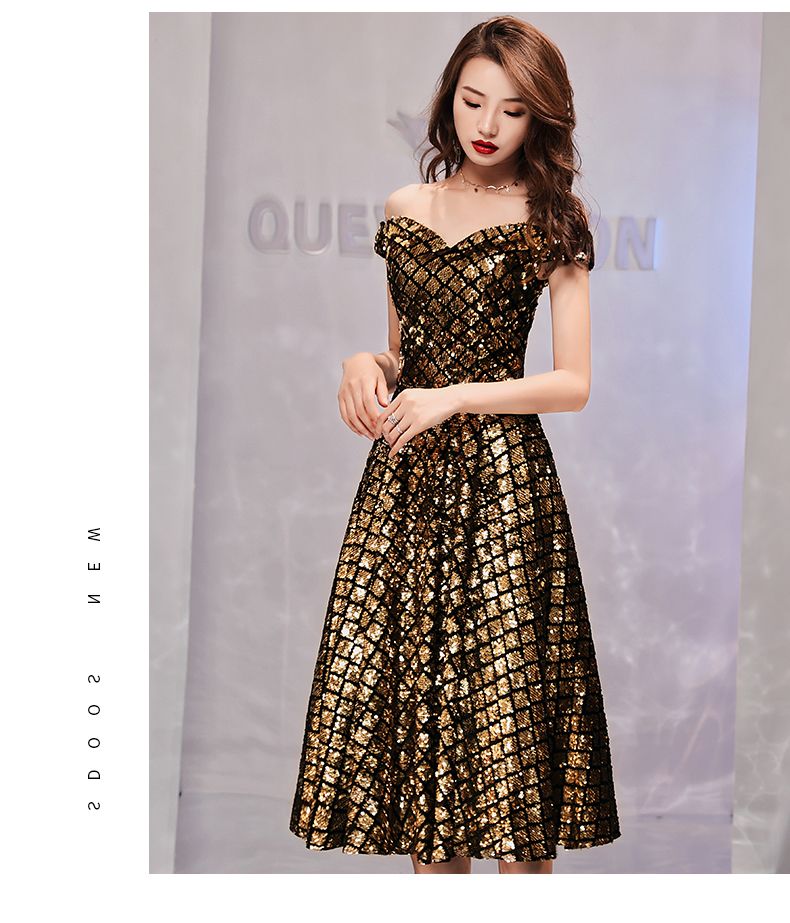 Vestido de baile de formatura lantejoulas elegante