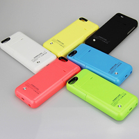 2200mAh External Battery Backup Charging Power Bank Cover Detachable Portable 2 In 1 Phone Case For