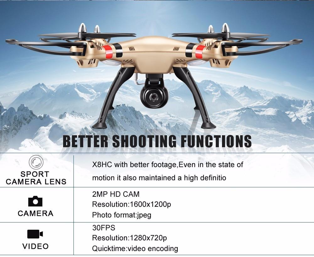 SYMA Professional UAV X8HG X8HW X8HC 2.4G 4CH RC Helicopter Drones 1080P 8MP HD Camera Quadcopter (SYMA X8C/X8W/ X8G Upgrade) 16