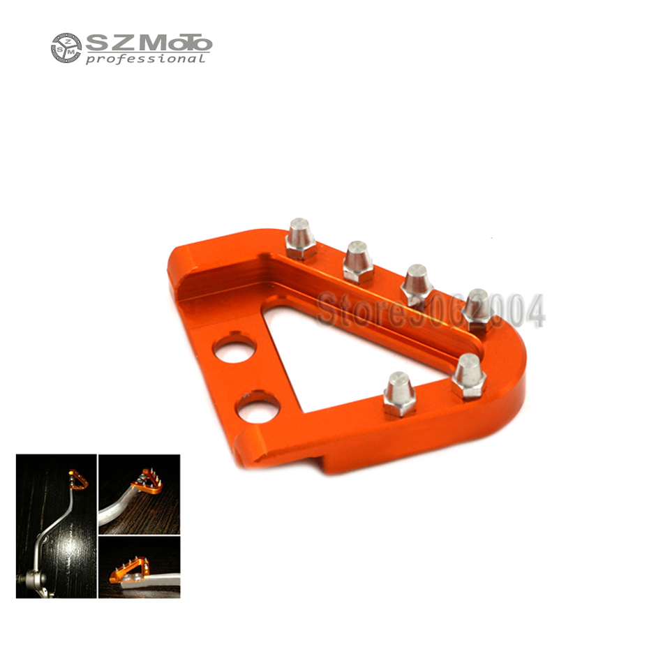 For KTM XCF-W SX-F EXC-F EXC 125 200 250 300 350 400 450 500 525 530 SXS-F Motorcycle CNC Aluminum Rear Brake Pedal Step Plate image
