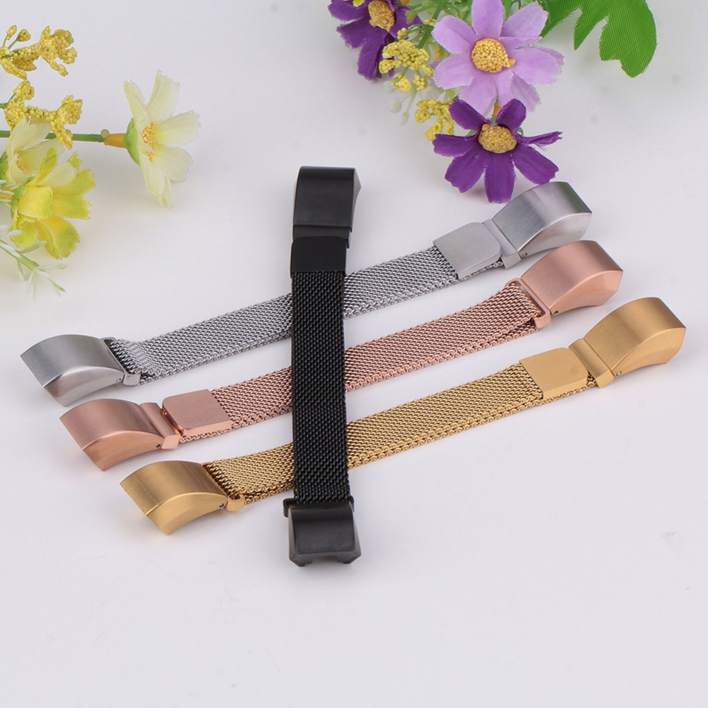 High Quality 12mm Luxury Brand Magnetic Loop Stainless Steel Customized Band For Fitbit Alta Smart Watch Correa Reloj Wholesale