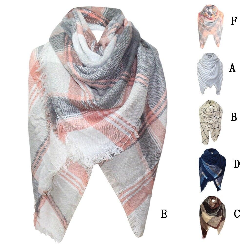 JAYCOSIN 2018 New Fashion   Scarf   Women Winter Plaid   Scarf   Unisex Basic Shawls Women   Scarves   Plaid   Scarves     Wraps   Oct4
