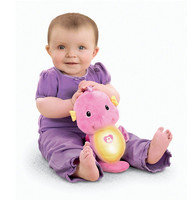 [Funny] Pacify baby Soothe Glow Seahorse Soothe and Glow Seahorse sleep light & music soft luminous and sounding plush doll toy