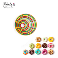 FILBAKE Set of 12 Stainless Steel 12 Sizes Baking Tools Round Cake Cut Mold Colorful Mousse Ring Cookie Cutters