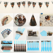 Cartoon Party Supplies Pirates Birthday Decoration Set baby Children Baby Shower Decorations