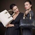 Women Genuine Leather Handbags White Black Tote Bag Women Shoulde Bag Ladies Hand Bags Bolsa Feminina Sac a Main Femme de Marque