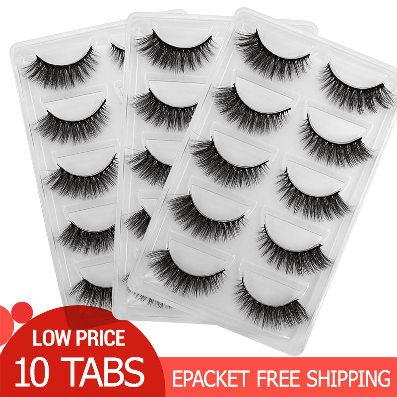50 Pairs Wholesale Eyelashes Natural Mink Eyelashes Makeup False Eyelashes Mink Lashes Eyelash Extensions Maquiagem Faux Cils