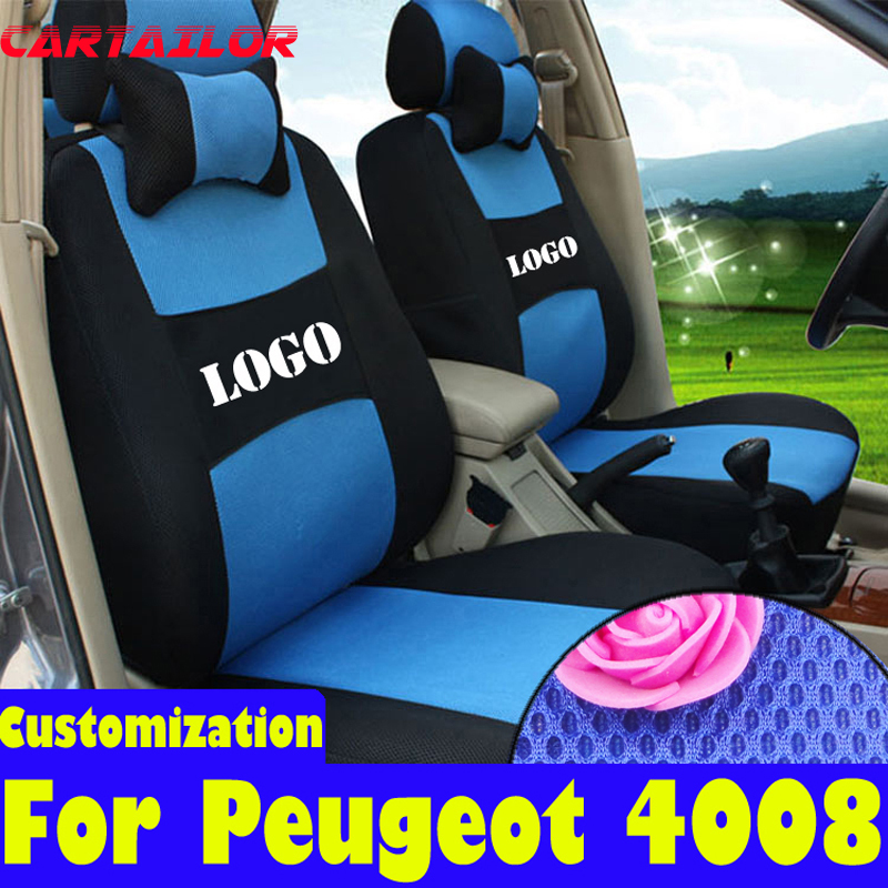 Cartailor Custom Fit Seat Covers For Peugeot 4008 Car Accessories Sandwich Cover Set Decorative Seats Supports