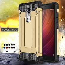 Armor Case For Xiaomi Redmi 4X Note 5 Plus Case 3 4 Mi A1 6X A2 5x 4A 5A 6 6A 3S Pro Prime Pocophone F1 Cases PC Silicone Coque(China)