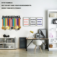 Fear No Distance medal hanger Inspirational holder Sport for 32+ medals