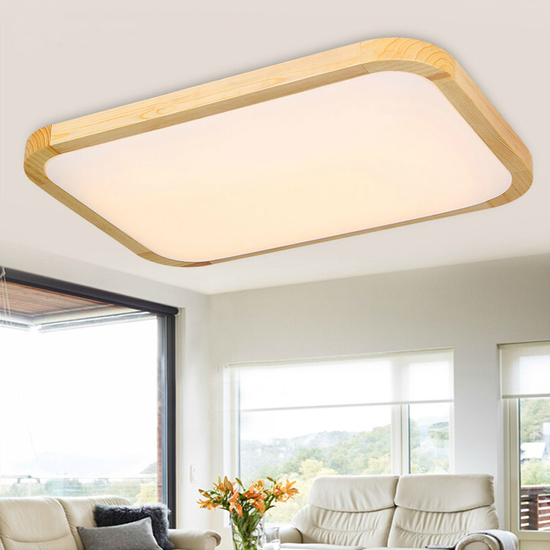 modern square oak living room led ceiling lights. Black Bedroom Furniture Sets. Home Design Ideas