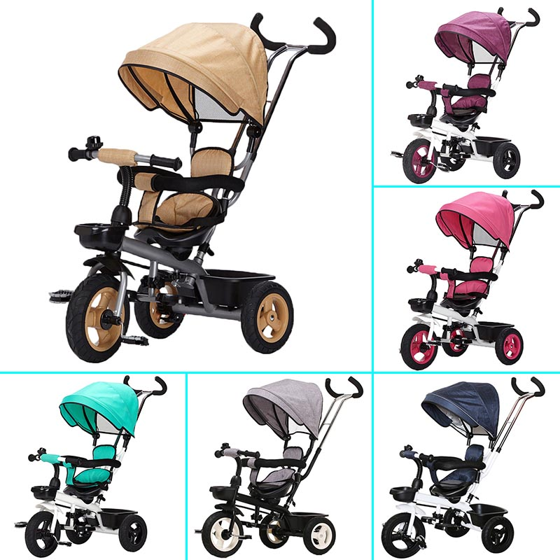 цена на Children Tricycle Bicycle Two-way wheels Umbrella Strollers Light Baby Stroller For Travelling Tricycle Stroller Bike 3 Wheel