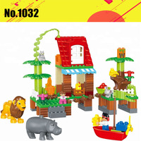 Diy Jungle Villa Animal Lion Squirrel Big Size Building Blocks 86pcs Compatible With Legoingly Brick Duploed Toys For Children