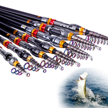 Sougayilang 99% Carbon 1.8M – 3.6M Portable Telescopic Fishing Rod Spinning Fish Hand Fishing Tackle Sea Rod