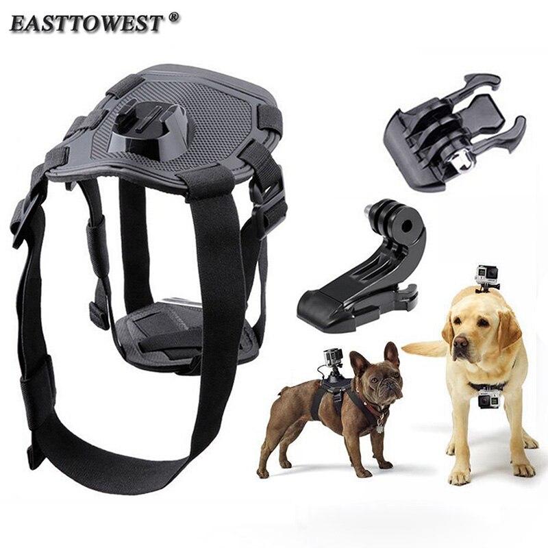 Easttowest Adjustable Elastic Dog Harness Chest Strap Back Mount for Go Pro Hero 4 Xiaomi Yi Action Camera Sjcam SJ4000 SJ7000