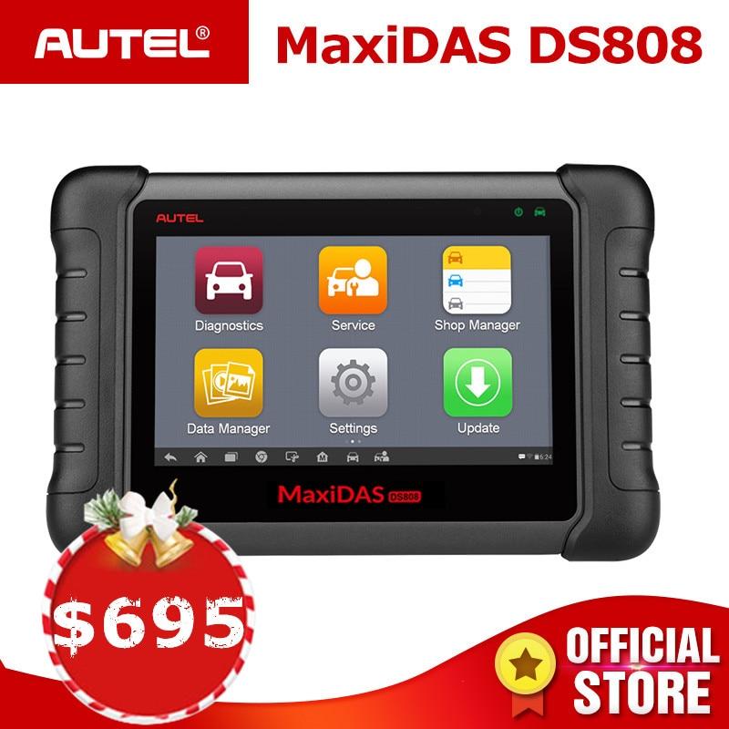 Autel MAXIDAS DS808 OBD2 Scanner Diagnose Auto Werkzeug OBD 2 Automotive ECU Tester ODB2 Schlüssel Programmierer Wegfahrsperre Maxisys Ms906