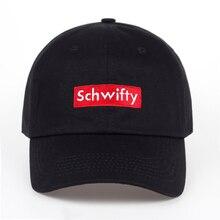 Хлопок Получить Schwifty Кепка Рик и Морти папа шляпа Schwifty бренд унисекс вышивка без Структура Бейсбол Кепки аниме Snapback
