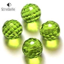 Perles à facettes rondes en verre de cristal, 6mm, pour la fabrication de bijoux, vente en gros, 100 pièces/sac