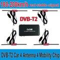 180-200 km/h DVB-T2 DVB T2 Coche Antena 4 4 Chip de Movilidad coche Coche Sintonizador de TV Digital HD 1080 P TV CAJA Del Receptor DVBT2