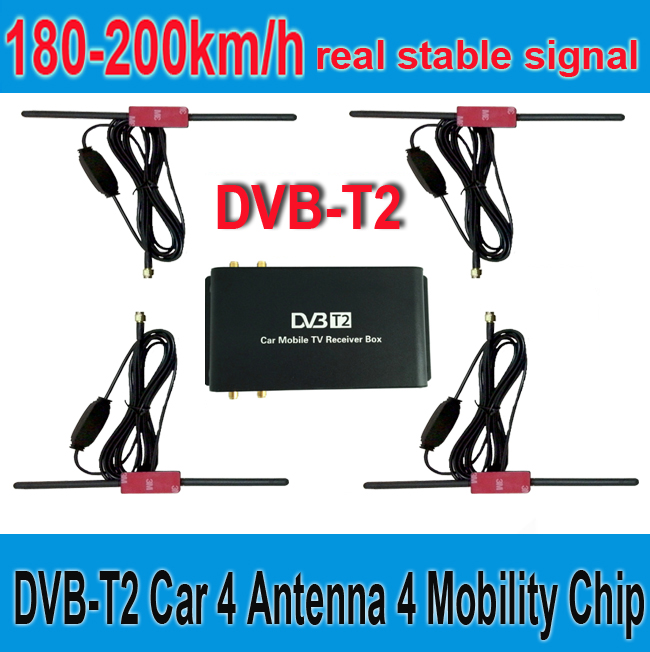 180-200km/h DVB-T2 Car 4 Antenna 4 Mobility Chip DVB T2 Car  Digital Car TV Tuner HD 1080P TV Receiver BOX DVBT2 pvt 898 5g 2 4g car wifi display dongle receiver airplay mirroring miracast dlna airsharing full hd 1080p hdmi tv sticks 3251