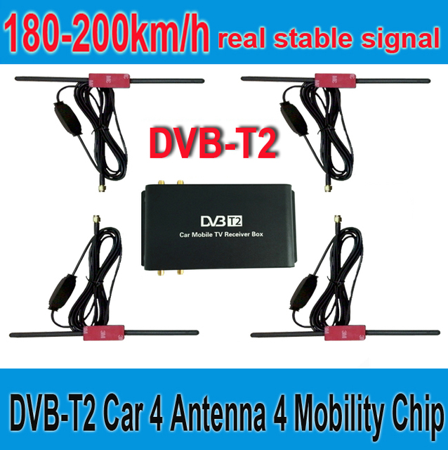 180 200km  H Dvb T2 Car 4 Antenna 4 Mobility Chip Dvb T2