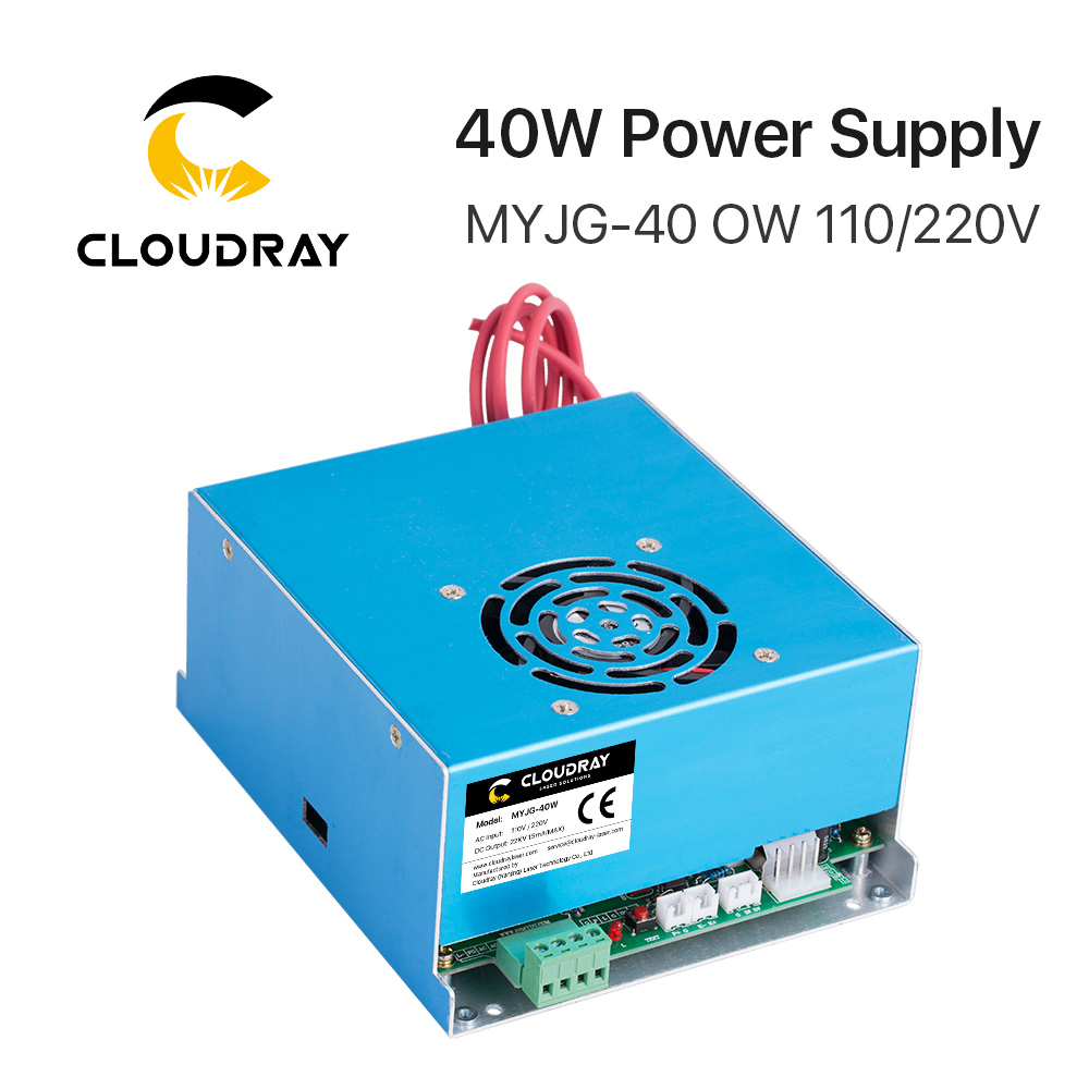 Cloudray 40W CO2 Laser Power Supply 110V/220V for Laser Tube Engraving Cutting Machine MYJG 40WT Model B MYJGCloudray 40W CO2 Laser Power Supply 110V/220V for Laser Tube Engraving Cutting Machine MYJG 40WT Model B MYJG