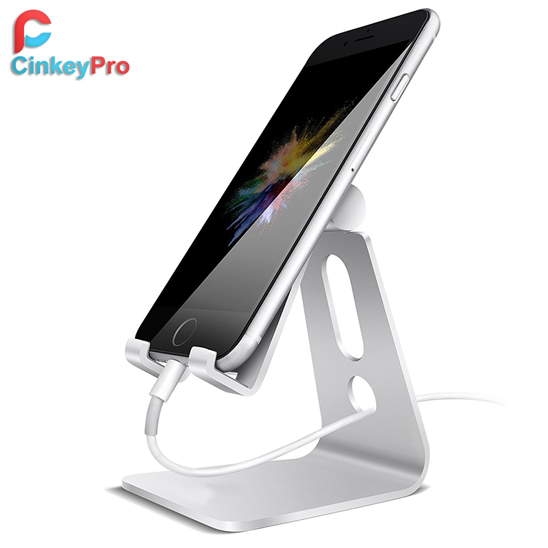 CinkeyPro Mobile Phone Holder Can Adjust The Angle Tablet Stand Aluminum High Quality Design for iPhone iPad Samsung Support