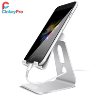 CinkeyPro Mobile Phone Holder Can Adjust The Angle Tablet Stand Aluminum High Quality Design For IPhone