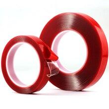 1 рулон длина 10 м Сильный Акриловый клей ПЭТ красная пленка прозрачная двухсторонняя лента без следа для телефона планшета ЖК-экран стекло