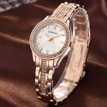 New  brand CRRJU watch women luxury dress full steel watches fashion casual Ladies quartz watch Rose gold Female female clock цены онлайн