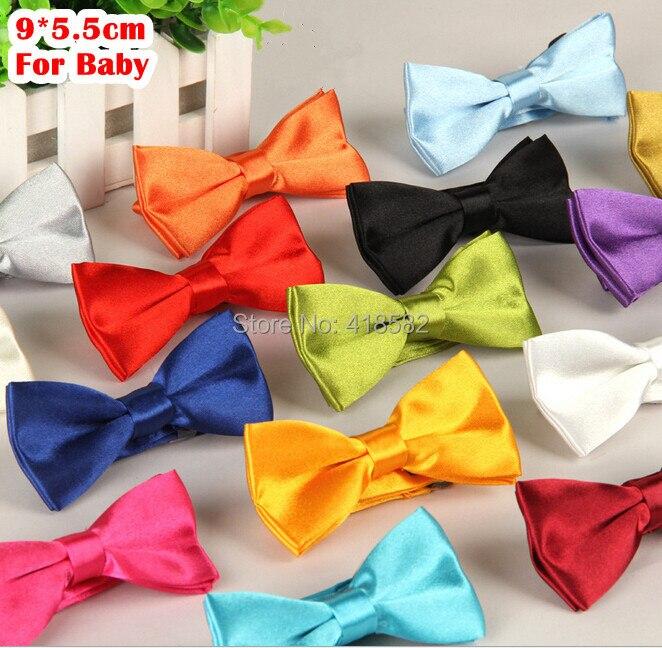 Lj006-kühles Baby Fliege Reine Farbe Hochwertigem Polyester Freizeit Bowtie Für Kindertag 20 Pcslot Bekleidung Zubehör Jungen Krawatte