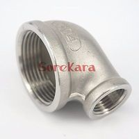 2 BS To 1 1 4 BSP Female 304 Stainless Steel Reducing Elbow Connector Pipe Fitting