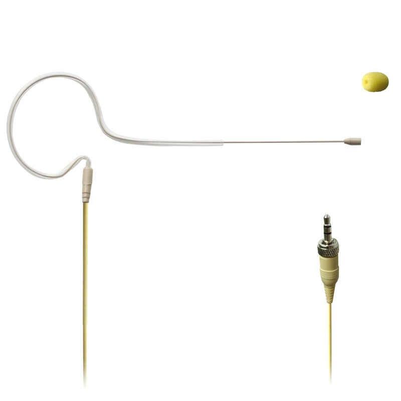 Freeboss 3.5mm Plug (met moer) Huidskleur Mini Single Ear Opknoping Omni Directionele Condensator Headset Microfoon