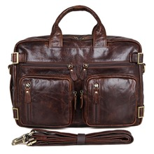 JMD Genuine Leather Applied Style Men Business Bag Chocolate Backpacks Free Shipping Briefcases 7026Q