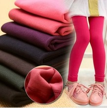 hot deal buy baby pants autumn winter girl warm pants elastic girl's leggings kid's children warm children's pants