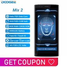 DOOGEE Mix 2 6GB RAM 128GB ROM Android 7.1 4060mAh 5,99 FHD + Helio P25 Octa Core smartphone Quad Kamera 16,0 + 13,0 megapixel 8,0 + 8,0 megapixel