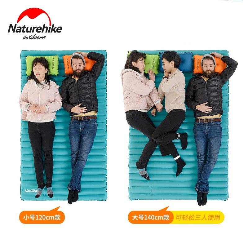Naturetrek 2-3person coussin gonflable ultra-léger tapis de Camping tente matelas d'air extérieur étanche à l'humidité