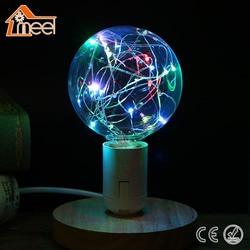 Винтажный дизайнерский Сказочный светодиодный светильник E27 85 V-265 V RGB, светодиодный светильник с нитью накаливания, ретро светодиодный свет...
