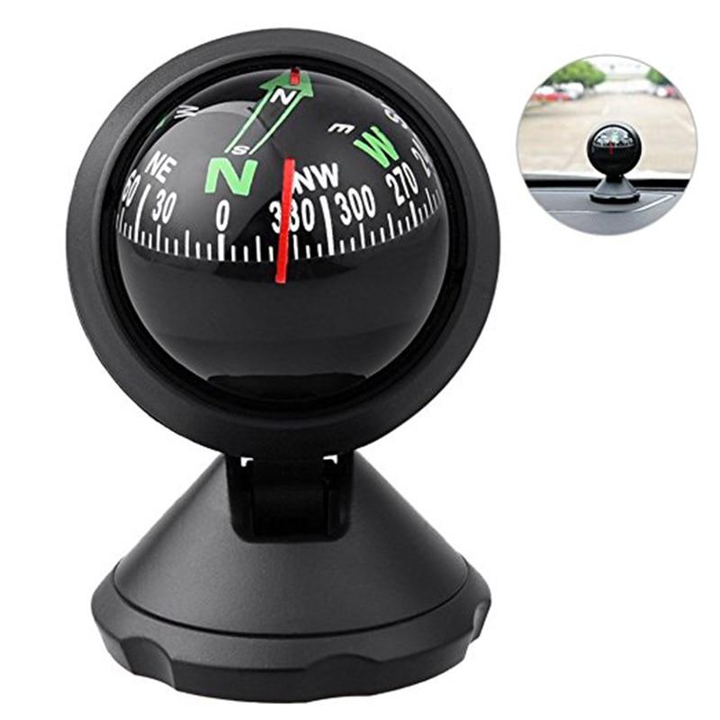 Multifunction Universal Car Compass Pocket Mini Ball Dash Dashboard Car Mount Navigation Compass Camping Hiking Compass