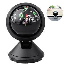 Wielofunkcyjny uniwersalny kompas samochodowy kieszonkowy Mini piłka Dash Dashboard uchwyt samochodowy nawigacja kompas Camping piesze wycieczki kompas tanie tanio Typ pojazdu-ponoszone plastic Wskaźnik Wskazując przewodnik 80*56*65mm compass car Obóz Car guide ball compass