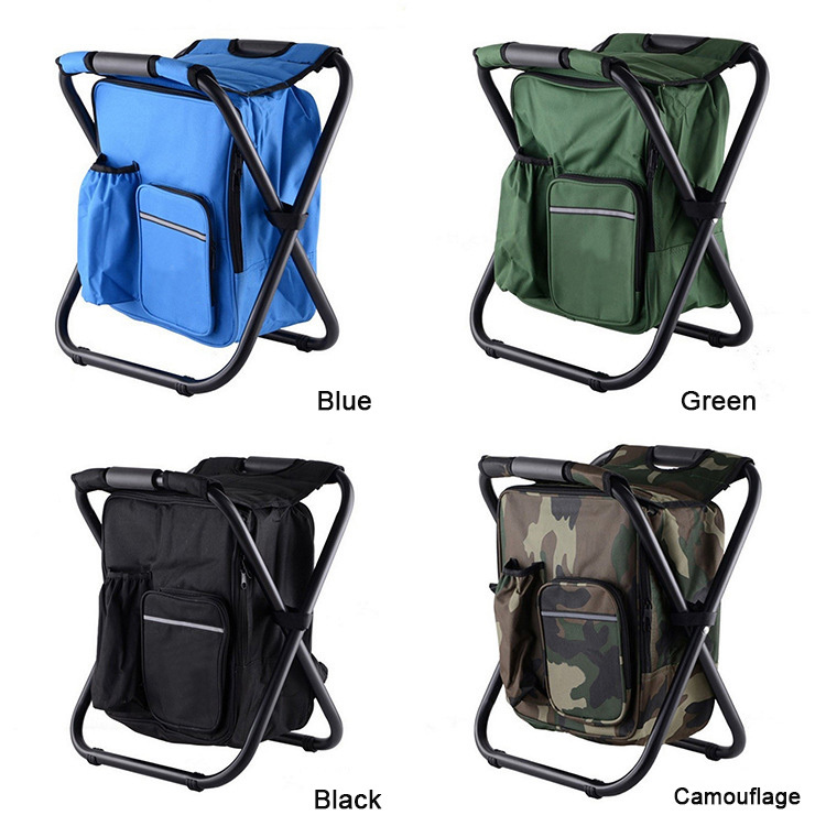 Sports & Entertainment Campcookingsupplies Outdoor Folding Portable Chair Lightweight Travel Hiking Camping Beach Picnic Seat Leisure Camouflage Stool Backpack D82701 Good For Antipyretic And Throat Soother