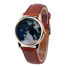 2016 Hot Sale,Women Watches Global Travel Pattern Dress Watch High Quality Analog Clock PU Leather Band Relogio Feminino