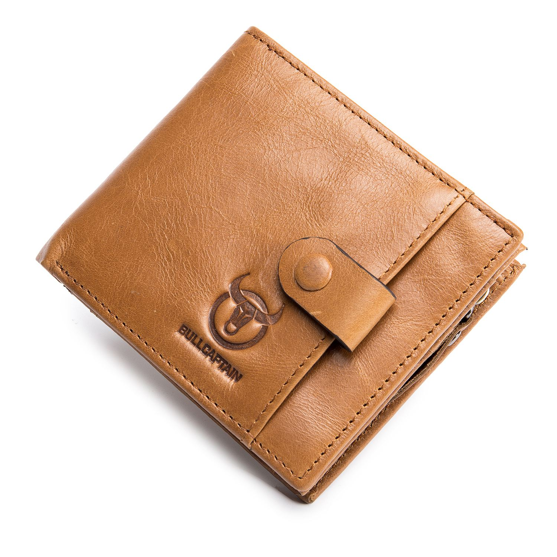 FGGS BULLCAPTAIN Genuine Leather Men Wallets Credit