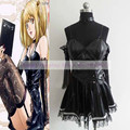 2016 New design!Death Note Misa Amane Cosplay Costume Tee Dress by leather and Lace High quality Gothic Dress free shipping